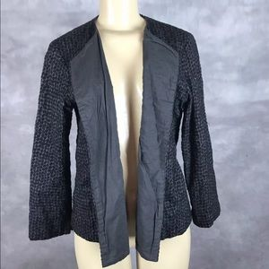 Eileen Fisher Embroiled Open Front Blazer